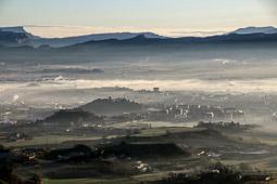 Osona: paisatge i meteorologia (febrer 2015)
