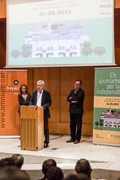 Presentació de les candidatures adherides a la campanya «Ajuntaments per la independència»
