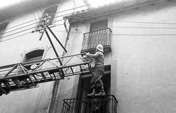 Estimats bombers (1978-94) Vic, 7 de desembre de 1983.  Foto: Josep M. Montaner