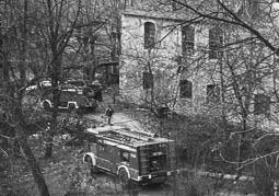 Estimats bombers (1978-94) Incendi a la colònia Vila-seca (Sant Vicenç de Torelló). Foto: Arxiu La Marxa