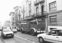 Estimats bombers (1978-94) Al carrer de Torras i Bages, de Vic. Foto: Arxiu La Marxa