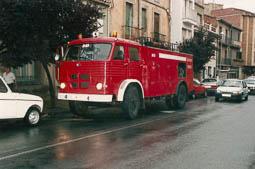 Estimats bombers (1978-94) BRP (Bomba Reductora Pesant) 206 del parc de Vic. Foto: Arxiu La Marxa