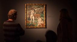 Exposició «116 anys de Pintura Catalana» a Vic Dues figures femenines nues de Joaquim Sunyer.