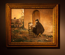 Exposició «116 anys de Pintura Catalana» a Vic Retratant-se de Ramon Casas i Santiago Rusiñol.