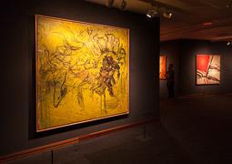 Exposició «116 anys de Pintura Catalana» a Vic Taula dibuixada de Miquel Barceló i Referències a Barm Van Velde de Josep Vernis.