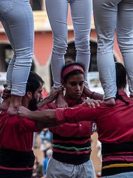 Mercat del Ram 2016: trobada castellera