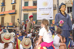 Diada Nacional 2016: osonencs a la manifestació a Berga