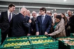 Carles Puigdemont inaugura el nou magatzem de Bon Preu