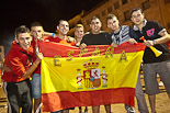 Celebració de la victòria de «La Roja» a Manlleu