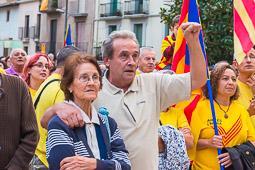 Protesta contra la suspensió del 9-N a Roda de Ter