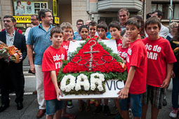 Diada Nacional 2014 a Vic: actes institucionals