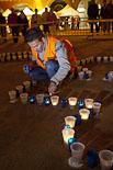 «Encén la flama»  a la plaça Major de Vic