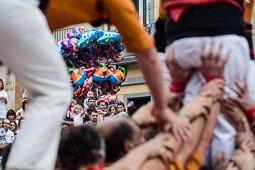 Festa Major de Roda de Ter 2014: actuació castellera