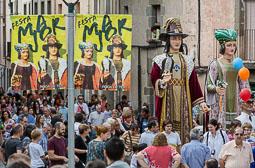 Festa Major de Roda de Ter 2014: cercavila de gegants