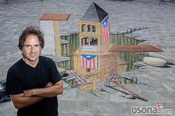 Dibuix 3D de Toni Ortiz per a l'ANC de Santa Eugènia de Berga