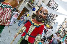 Festa Major de Vic 2014: cercavila dels gegants i la famíla cap de llúpia