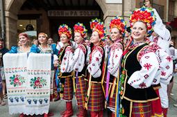 Festival de Música de Cantonigròs 2014: cercavila dels grups de dansa