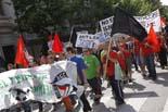 Manifestació antifeixista a Vic