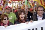 Manifestació sindical contra l'atur a Osona