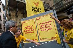 Protesta contra la suspensió del 9-N a Vic