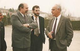 Ramon Espadaler, l'àlbum de fotos Amb el conseller de CiU Ignasi Farreras (a l'esquerra), el 1992. Foto: Arxiu històric de La Marxa de Catalunya.