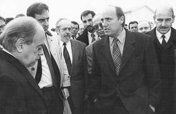 Ramon Espadaler, l'àlbum de fotos Amb Jordi Pujol, el conseller Joaquim Molins i d'altres càrrecs, el 1992. Foto: Arxiu històric de La Marxa de Catalunya.
