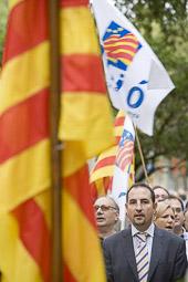 Ramon Espadaler, l'àlbum de fotos Cantant Els Segadors al monument de Rafael Casanova (11/09/2008).