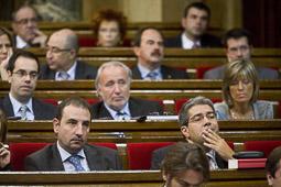 Ramon Espadaler, l'àlbum de fotos Al debat de Política General, des de l'oposició, amb Francesc Homs (29/09/2009).