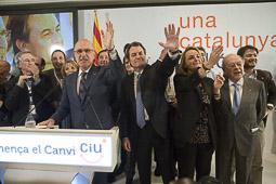 Ramon Espadaler, l'àlbum de fotos Celebrant la victòria, a la nit electoral al Majestic de Barcelona, en segon terme (29/11/2010).