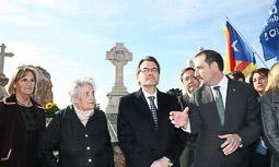 Ramon Espadaler, l'àlbum de fotos Commemoració de l'aniversari de l'afusellament de Carrasco i Formiguera (9/04/2013). Foto: Quico Sallés.