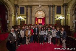 Ramon Espadaler, l'àlbum de fotos Amb l'Executiva d'UDC d'Osona, de visita al Parlament (19/04/2013). Foto: Josep M. Costa.