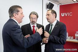 Ramon Espadaler, l'àlbum de fotos Amb Federico Mayor Zaragoza i el rector de la UVic, Jordi Montaña, el dia del nomenament del primer com a Doctor Honoris Causa (21/03/2014).