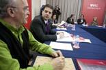 Trobada d'alcaldes per parlar de la línia de tren Vic-Puigcerdà
