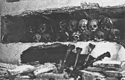 Revolució, guerra i franquisme a Vic Exhumació massiva de cadàvers en un convent de Vic.