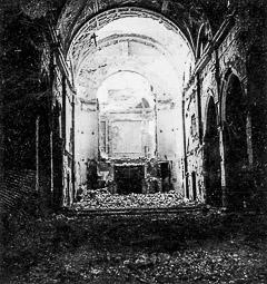 Revolució, guerra i franquisme a Vic Destrucció del temple del convent de la Mercè, a la rambla de l'Hospital.