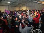 Seguiment del Barça - Madrid des de la carpa de Calldetenes