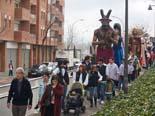 Trobada gegantera comarcal al barri del Remei