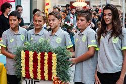 Diada Nacional 2015 a Vic: actes institucionals
