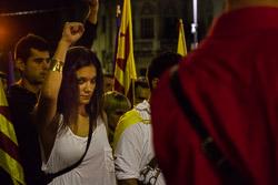 Diada Nacional 2015 a Vic: manifestació de l'Esquerra Independentista