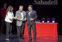 Medalles d'Honor de la ciutat de Sabadell 2015 Antonio Trives, rebent el reconeixement.