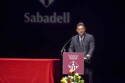 Medalles d'Honor de la ciutat de Sabadell 2015 L'alcalde, Joan Carles Sánchez.