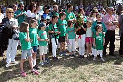 Aplec de la Salut de Sabadell 2015 Ofrena floral a les víctimes de Mauthausen.