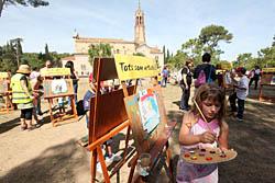 Aplec de la Salut de Sabadell 2015 Tallers de pintura al voltant del santuari.