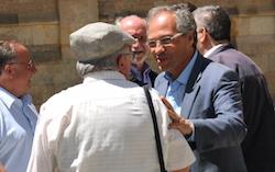 Les imatges més curioses de la campanya electoral a Sabadell 2015  Contactes. Foto: Albert Segura.