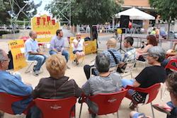Les imatges més curioses de la campanya electoral a Sabadell 2015  Als barris. Foto: ERC.