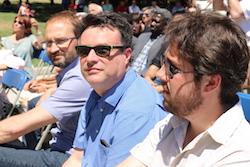 Les imatges més curioses de la campanya electoral a Sabadell 2015  Sota el sol del migdia. Foto: Albert Segura.
