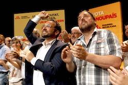 Les imatges més curioses de la campanya electoral a Sabadell 2015  Amb força. Foto: Albert Segura.