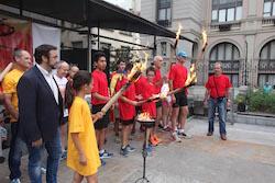 La Flama del Canigó arriba a Sabadell, 2015 Lluint la Flama.