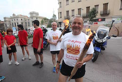 La Flama del Canigó arriba a Sabadell, 2015 Preparant-se per traslladar la Flama.