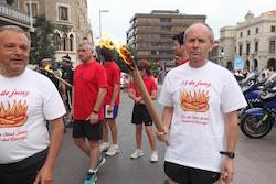 La Flama del Canigó arriba a Sabadell, 2015 Sortida cap a les fogueres.